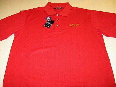 Ferris State University Embroidered Cardinal Red Golf Polo Shirt New! NWT XL