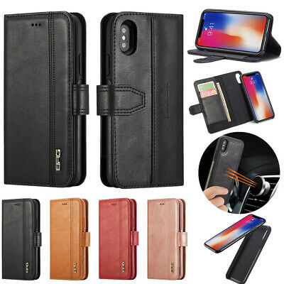 2 in 1 Removable Pu Leather Wallet Case ID Cards Flip Cover For Samsung & iPhone