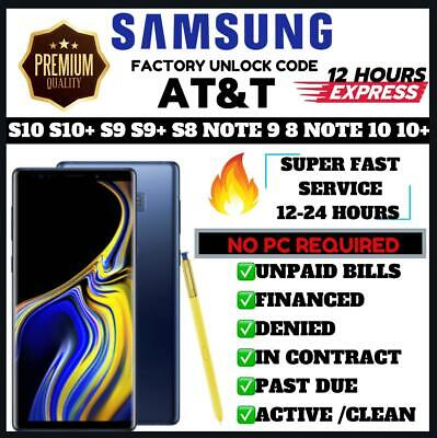 Samsung Official Att At&T Premium Factory Unlock Code All Models And Note 9