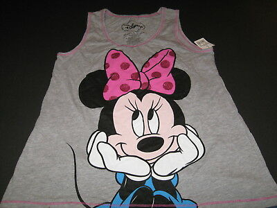 DISNEY Adorable MINNIE MOUSE Hands on Chin TANK TOP Shirt - New! NWT - Girls  XL
