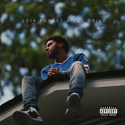 "J Cole 2014 Forest Hills Drive Poster 32x32"" 24x24"" 18x18 Album Cover Print Silk"