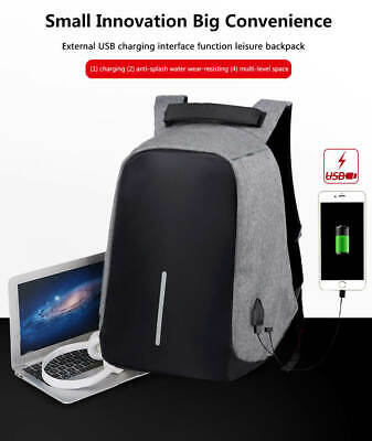 Fashion Travel Laptop Backpack USB Charging Port Business School Anti-theft Bag