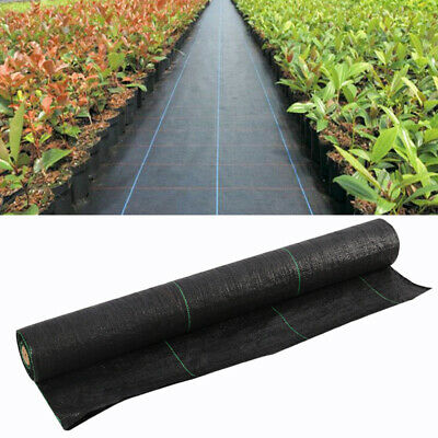 10-100m Garden Weed Control Fabric Membrane Ground Sheet Cover Decking Landscape