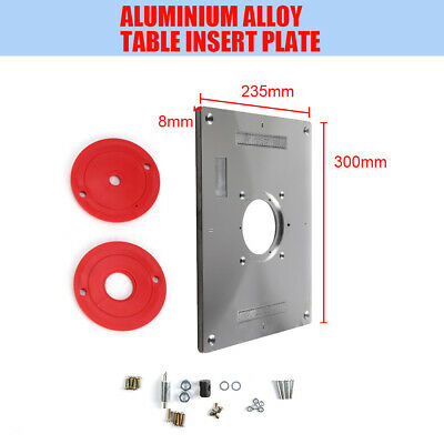 Aluminum Router Table Insert Plate 235 x 300 x 8mm With Ring For Woodworking UK