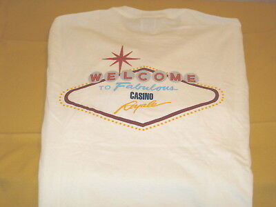 ROYAL CARIBBEAN Cruise Lines - Welcome To Fabulous CASINO ROYALE T-Shirt New MED