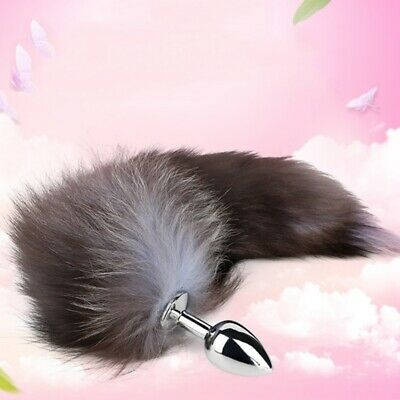Butt Anal Insert Plug Stopper Metal Fox Tail Sexual Adult Spiel Cosplay Toy AU