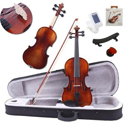 4/4 Size Spruce Wood Acoustic Violin Fiddle w/ Case Bow Tuner Strings