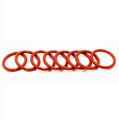 Ø2.5mm(OD=52~170) Food Grade Red Silicone Rubber O-Ring Sealing Gasket Washers