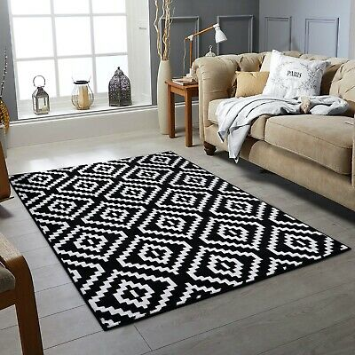 New Black & White Small Extra Large Big Huge Size Floor Carpet Rug Mat Cheap Rug