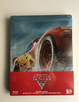Cars 3 blu-ray + blu-ray 3D steelbook