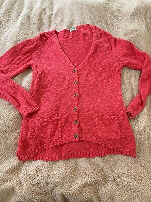 Next Girls Pink/red Cardigan Age 14