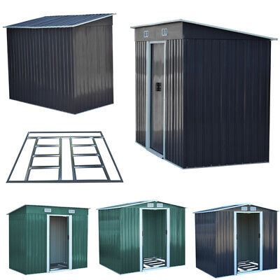 2/3/4/5/6/7 Sqm Metal Shed Outdoor Garden Caravan House Tool Room And Foundation