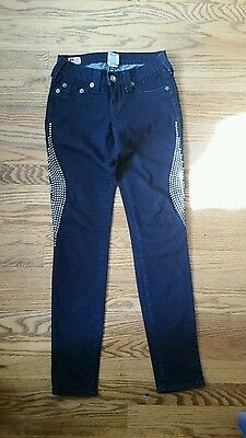 RARE-True Religion Women's Casey Studded Skinny Jeans Size 25-EUC