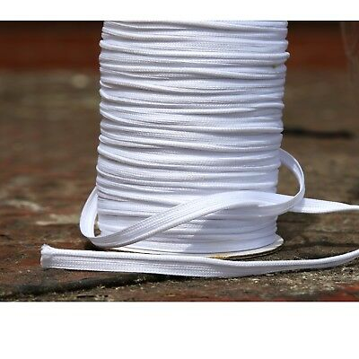 Flanged 3mm insert white piping cord sewing polyester per metre upholstery Trim