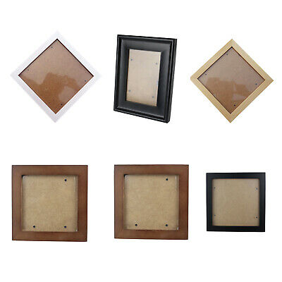 Square Thick Pine Wood Photo Frame Wall Picture Frame E7K9