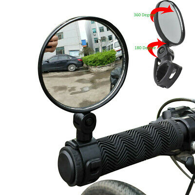 2x Bike Bicycle Cycling Rear View Mirror Handlebar Flexible Safety Rearview NEW