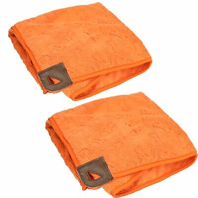 "Tall Tails Orange Pet Dog Cape Pocket Towel Large 27""x27"" 2Pack"