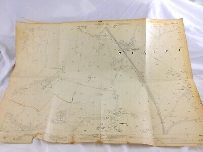 1910 Antique Map of East Sussex Cooksbridge Village Offham Lewes Hamsey