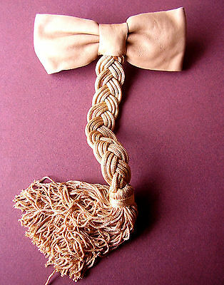 1495 / Clip Beige Leather and Plait in Passementerie
