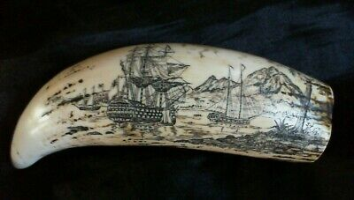 "Beautiful ""Lord Nelson"" and the ""Victory"" Faux Scrimshaw £10.99 SRP £24"