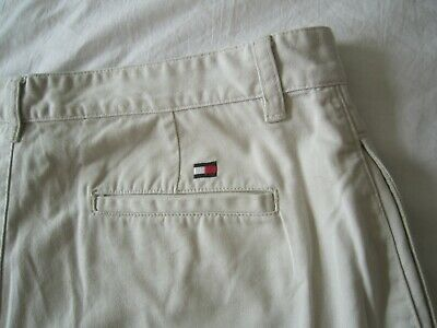MEN'S TOMMY HILFIGER VINTAGE CHINO SHORTS  w 36  XL  sand loose fit khakis