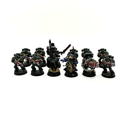 Warhammer 40K Space Marine Dark Angels Tactical Squad + Captain + Librarian