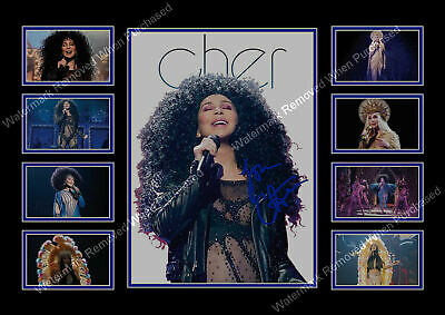 Cher Autograph 2018 Here We Go Again Signed Limited Edition A4 Memorabilia Print
