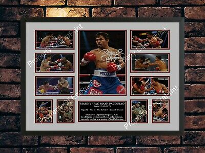 Manny Pacquiao Signature Autographed Signed A4 Print Poster Photo Boxing Belts