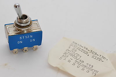 Toggle Switch from Aeg-telefunken Type ST52N, 2-polig um, On-On Switch, NOS