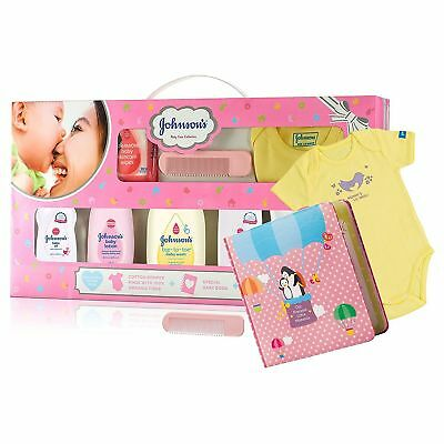 Johnsons Baby Care Collection With Organic Cotton Baby Dress Gift Set