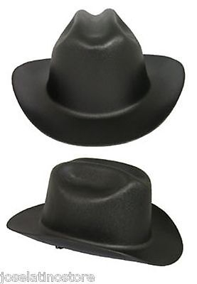 "Outlaw Cowboy Style Safety Hard Hat ""BLACK"" Ratchet Susp ANSI/OSHA Approved!"