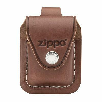 Zippo Lighter Pouch Case Brown Leather With Belt Loop