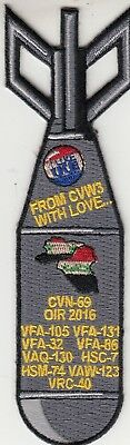 Vfa-105 Gunslingers From Cvw-3 With Love Bomb 2016 Cruise Patch