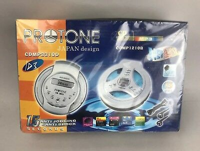 PROTONE CDMP3310D & CDMP1210B Retro Walkman Slim Line Never Opened.