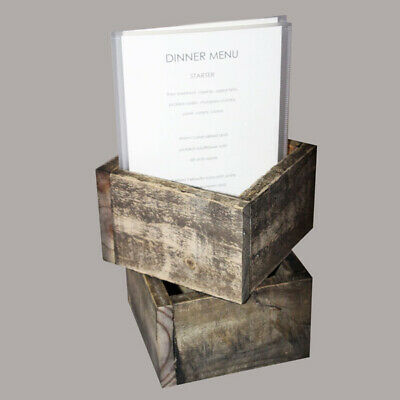 Small Distressed Cutlery Box With 2 A5 Poly Menus