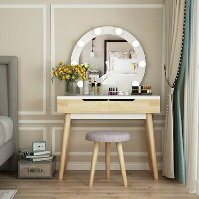 Pleasant Vanity Mirror With Light Bulbs Dressing Table Makeup Desk Pabps2019 Chair Design Images Pabps2019Com