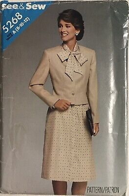 VTG UNCUT Butterick 5268 Misses Jacket & Dress Sewing Pattern Size 8 - 12