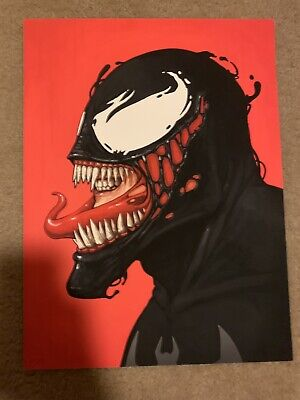 Mike Mitchell Venom Portrait Print Mondo Artist Marvel Signed Numbered