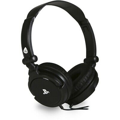 4Gamers PS4 Pro 410 Stero Gaming Headset with in-line Mic - Black