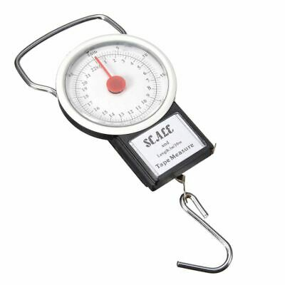 Portable Luggage Travel Scale Hanging Suitcase Hook 22kg 50lb Measuring Tape M7