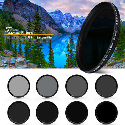 ZOMEI 62mm Adjustable Neutral Density ND2-ND400 Fader Filter for Camera Lens