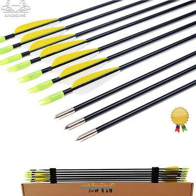 "30/"" Fibreglass Archery Arrows For Recurve /& Compound Bows Target Free Postage"