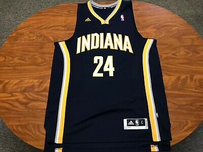 new arrival 58a9d 54867 MENS LIGHTLY WORN Adidas Indiana Pacers Paul George Basketball Jersey Large