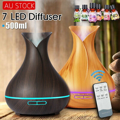 Aromatherapy Diffuser Essential Oil Ultrasonic Air Humidifier Aroma LED Purifier