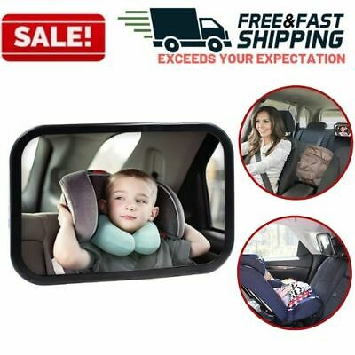Baby Back Seat Car Mirror Infant View Rear Facing Newborn Safety Wide Angle