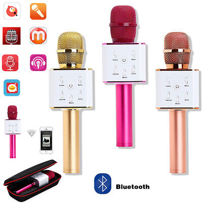 Karaoke Q7 Wireless Bluetooth Microphone MIC USB Speaker Singing KTV Player Home
