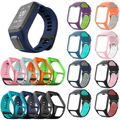 Replacement Silicone Band Straps for TomTom Runner 2 / 3 Spark/3 Sport GPS Watch