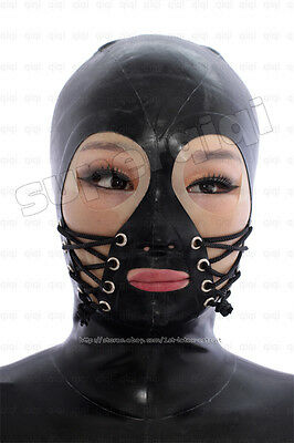 Neu 100%Latex Rubber Gummi 0.45mm Maske Hood Mask Ganzanzug Catsuit Kostüm Suit