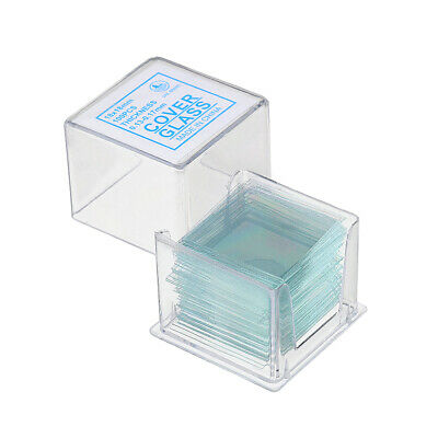 100Pcs/Box 18x18mm Transparent Slides Coverslips Special Cover Glass Microscope