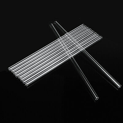 15Pcs 300mm Borosilicate Glass Clear Glass Tubing Tube 10mm OD 1mm Thick Wall Bl